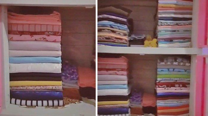 VIRAL Video Wanita Lipat Baju Bisa Rapi dan Presisi, Sudah Asah Kemampuan Sejak Tinggal di Pondok