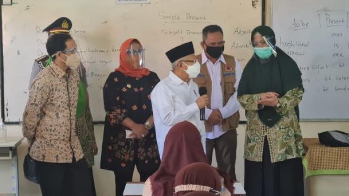 Wapres Nilai Vaksinasi Covid-19 Jadi 'Game Changer' Pelaksanaan PTM di Sekolah