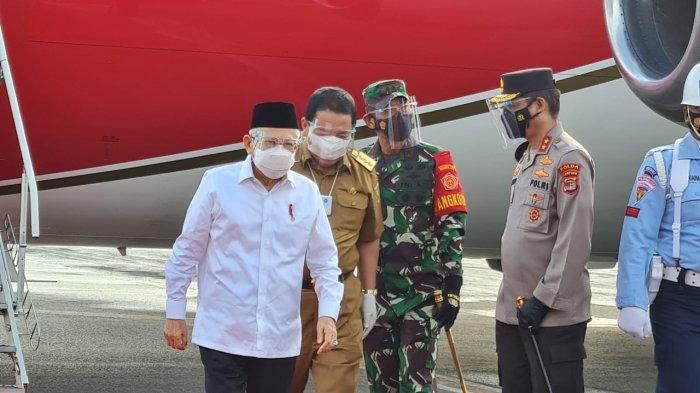Menuju Lampung, Wapres Maruf Tinjau Vaksinasi dan Bendungan Way Sekampung