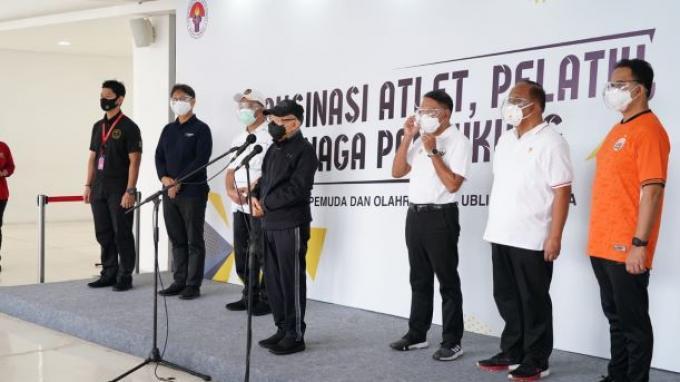 Tinjau Vaksinasi di Istora Senayan, Ma'ruf Bicara Pentingnya Event Olahraga bagi para Atlet