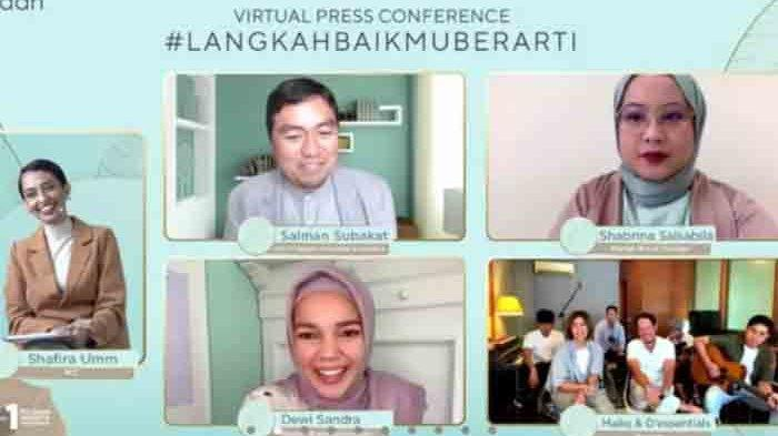 Virtual press conference bertajuk 'Wardah Ramadan Campaign 2021: #LangkahBaikmuBerarti', Rabu (7/4/2021).