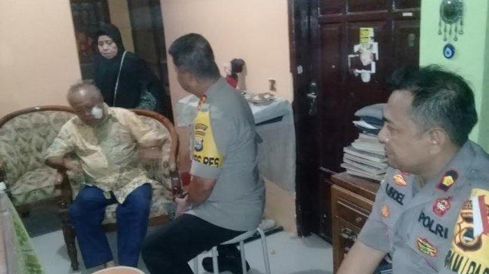 Sekretariat Organda Diserang, Kapolrestabes Makassar Jenguk Kakek Korban Terkena Busur