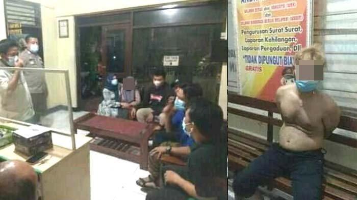 Berbuat Tak Senonoh ke Wania Pelanggan, Pemilik Salon di Gresik Diarak Ramai-ramai ke Kantor Polisi