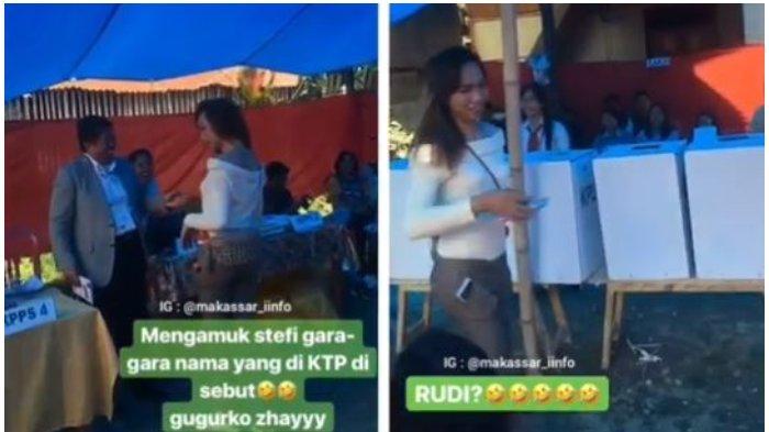 Waria Ngambek di TPS Gara-gara KPPS Panggil Nama Aslinya: Rudi Wahyu!