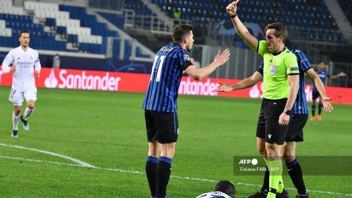 HASIL Babak Pertama Atalanta vs Real Madrid Liga Champions: Diwarnai Kartu Merah, Skor 0-0