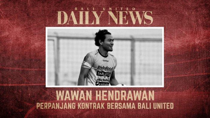 Kiper Bali United Wawan Hendrawan