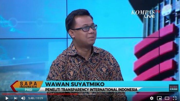 Peneliti Transparency International Indonesia, Wawan Suyatmiko (Tangkap Layar YouTube Kompas TV)