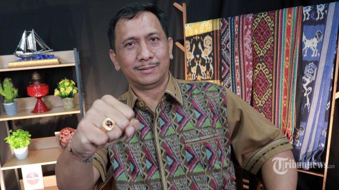 Sekjen Ormas Perhimpunan Pergerakan Indonesia (PPI), I Gede Pasek Suardika berpose usai wawancara khusus di Kantor Tribun Network di Jakarta, Jumat (19/3/2021). Tribunnews/Irwan Rismawan