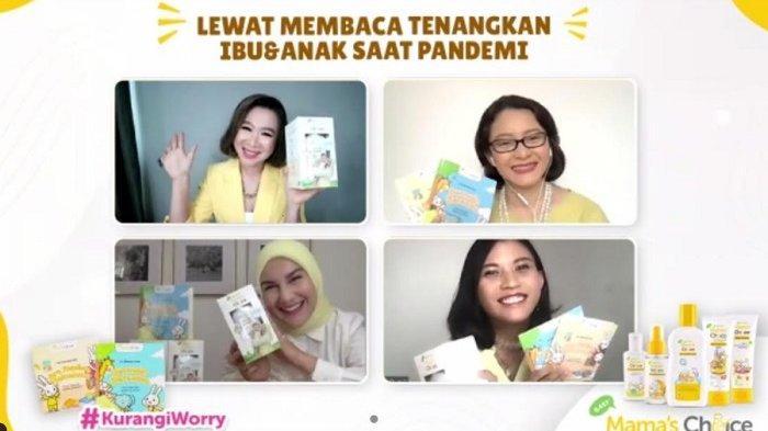 Webinar Mama's Choice bertajuk #KurangiWorry 'Lewat Membaca, Tenangkan Ibu dan Anak Saat Pandemi', Kamis (22/7/2021).