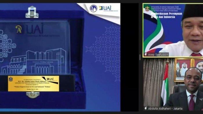 Di Webinar UAI, Dubes Uni Emirat Arab Ajak Perkuat Kerjasama Bilateral dengan Indonesia