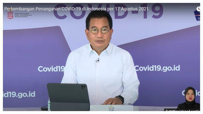 Wiku Adisasmito mengabarkan kasus positif Covid-19 di Indonesia semakin menurun, Selasa (17/8/2021)