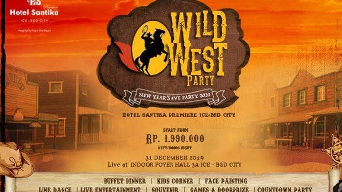 Wild West Party, Pesta Tahun Baruan AlaAmerican Cowboy di Hotel Santika Premiere ICE – BSD City