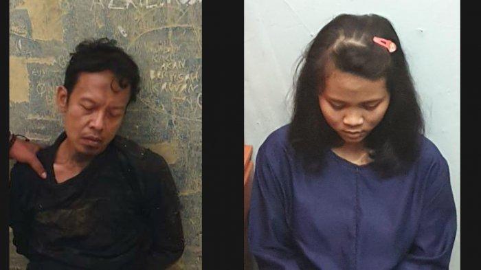 Dua pelaku penusukan Menkopolhukam yang merupakan suami istri, Syahril Amansyah alias Abu Rara, dan Fitri Andriana.