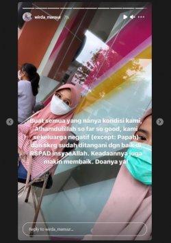 Putri Ustaz Yusuf Mansur, Wirda mengabarkan kondisi terkini sanga ayah setelah dinyatakan positif covid-19 beberapa waktu lalu.