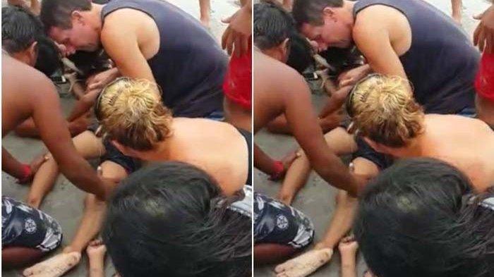 Wisatawan Selamatkan 4 Bocah yang Terseret Ombak Pantai Kuta