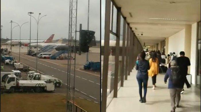 VIDEO Detik-detik WNI dari Wuhan China Tiba di Bandara Hang Nadim Batam, akan Diterbangkan ke Natuna
