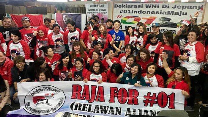 Warga Indonesia di Nagoya Jepang Deklarasi Dukungan untuk Jokowi-Maruf Amin