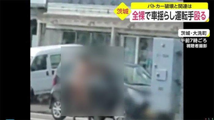 Pria WNI Tanpa Busana Merusak Mobil Polisi Jepang
