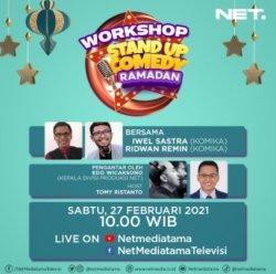 NET. Gelar Workshop Virtual Film Pendek dan Stand Up Comedy