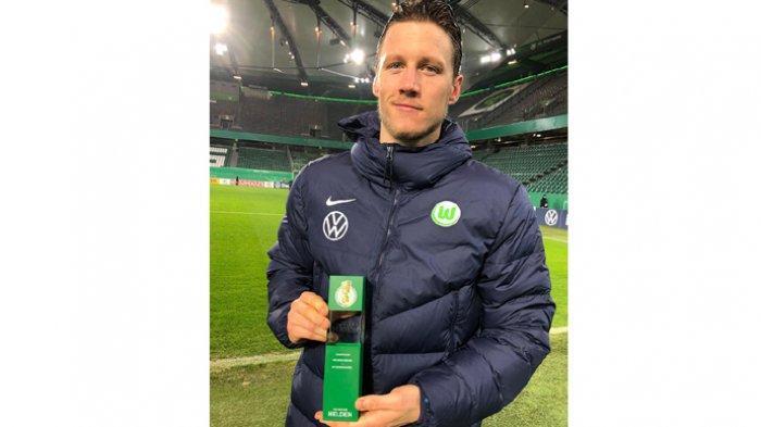 Wout Weghorst, striker Wolfsburg asal Belanda.