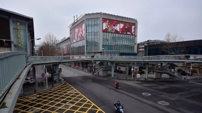 Wuhan pada bulan Februari, sepi karena lockdown