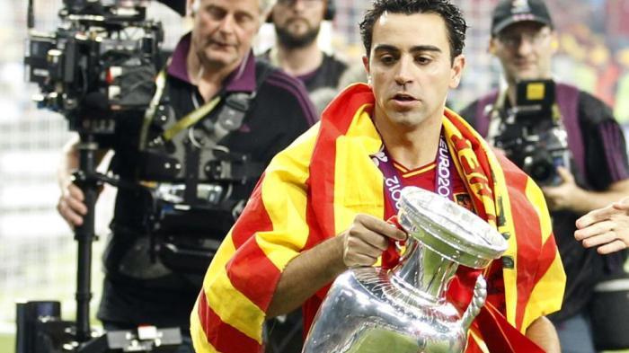 Xavi Hernandez sukses mengantar Spanyol juarai Piala Eropa 2012.