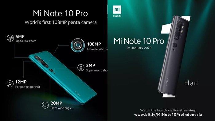 Besok Rabu 8 Januari Bisa Dibeli, Ini Harga dan Spesifikasi Mi Note 10 Pro, HP Kamera 108 Megapiksel