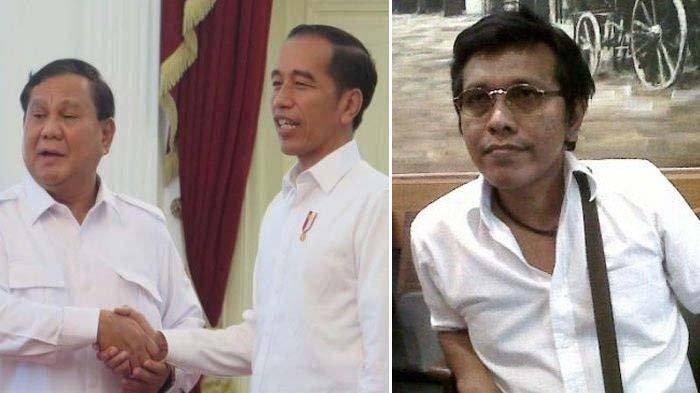 Prabowo Subianto saat bertemu Presiden Jokowi. Adian Napitupulu