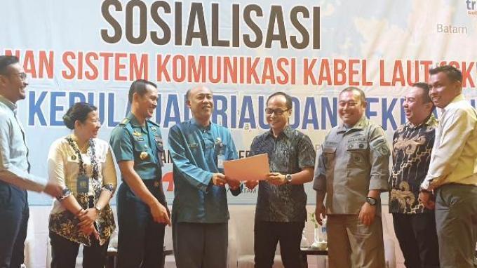 Triasmitra Adakan Sosialisasi Pengamanan SKKL di Wilayah Kepulauan Riau dan Sekitarnya