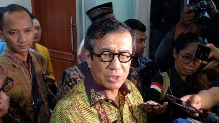Menteri Hukum dan Hak Asasi Manusia (Menkum HAM) Yasonna Laoly.
