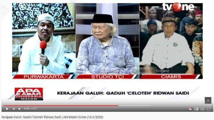 Ridwan Saidi Diminta Minta Maaf soal Kerajaan Galuh, Babe: Bapak Benar Mustinya Saya Tidur di Masjid