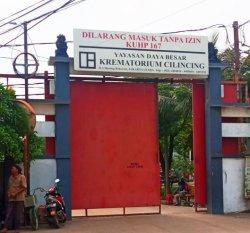 Yayasan Daya Besar Krematorium di Cilincing, Jakarta Utara, resmi berganti nama menjadi Krematorium Dr Aggi Tjetje SH. Plang nama baru Krematorium Cilincing belum digunakan meski telah resmi berganti nama sejak 17 Juli 2021