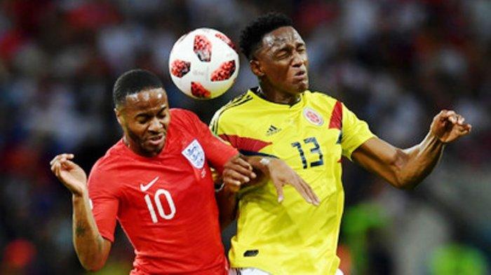 Kolombia vs Inggris: Yerry Mina Samakan Skor Jadi 1-1 Perpanjangan Waktu Dilakukan