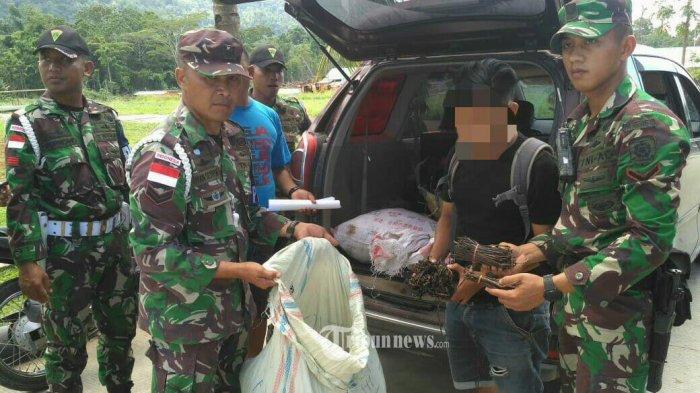 Satgas Pamtas Yonif Para Raider 328 Amankan 143 Kg Vanili Illegal