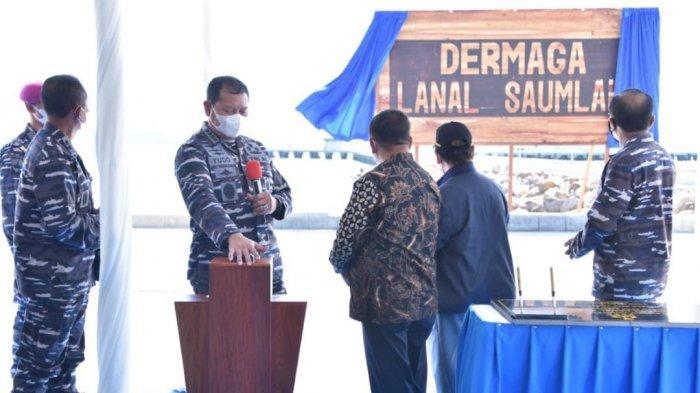 KSAL Resmikan Dermaga Lanal Saumlaki Maluku untuk Dukung Pengamanan ALKI III