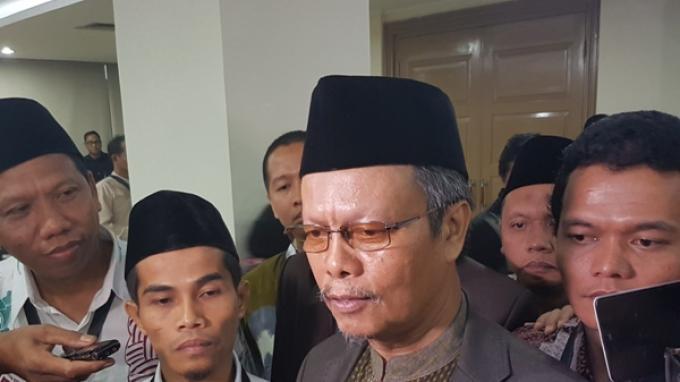 Wakil Ketua Umum Majelis Ulama Indonesia (MUI) Yunahar Ilyas usai menjadi saksi dalam sidang kasus dugaan penodaan agama dengan terdakwa Basuki Tjahaja Purnama di Auditorium Kementerian Pertanian, Jakarta Selatan, Selasa (21/2/2017).
