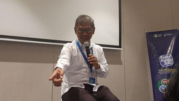 Sekretaris Direktorat Jenderal Pencegahan dan Pengendalian Penyakit (P2P) Kementerian Kesehatan, Achmad Yurianto Rakerkenas Kementerian Kesehatan, di Jakarta Pusat, Rabu (19/2/2020).