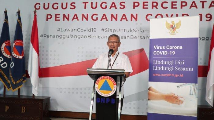 Juru Bicara Pemerintah untuk penanganan Covid-19, Achmad Yurianto pada konferensi pers Gugus Tugas Penanganan Covid-19 di Graha Badan Nasional Penanggulangan Bencana (BNPB) Jakarta, Rabu (25/3/2020).
