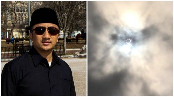 Ustaz Yusuf Mansur Bagikan Penampakan Gerhana Matahari Cincin, Terlihat Jelas