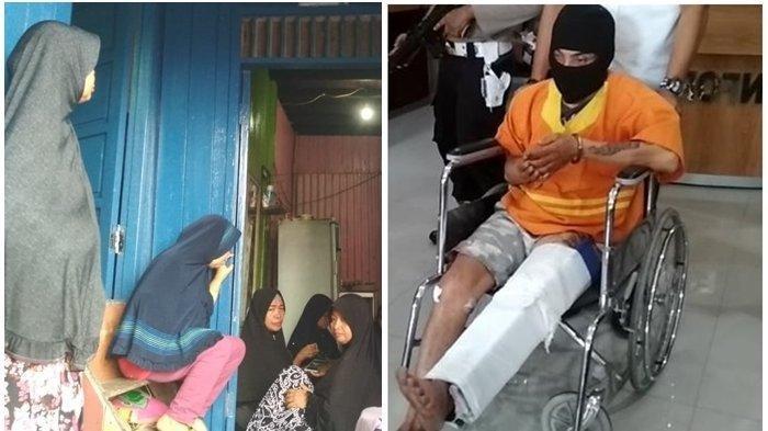 Zahiruddin (33) warga Karang Anyar Balikpapan Barat ditangkap Tim beruang hitam Polresta Balikpapan usai menghabisi nyawa kekasih yang berstatus janda tiga anak di Balikpapan Kalimantan Timur. (Kolase Tribunkaltim.co/HO Polresta Balikpapan)