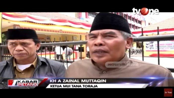 Ketua MUI Tana Toraja, KH A Zainal Muttaqin menjelaskan ajaran yang disebar oleh Paruru Daeng Tau merupakan aliran sesat.