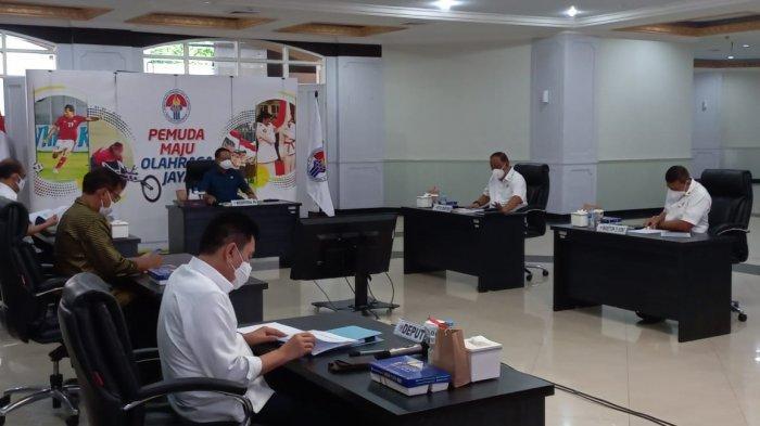 Zainudin Amali dan KONI Pusat Bahas Persiapan Penyelenggaraan dan Prokes