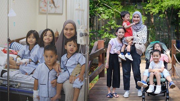 Kompak Terpasang Selang Infus dengan 4 Anaknya di Rumah Sakit, Zaskia Adya Mecca: Cuma Bisa Nangis