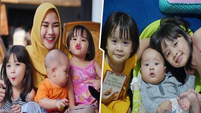 Zaskia Adya Mecca bersama anak-anaknya