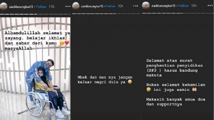 Zaskia Sungkar tanggapi kasus Bandung Makuta yang dihentikan sementara.