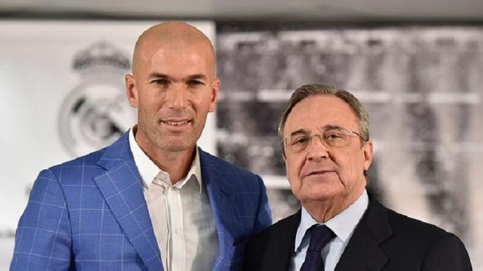 Zinedine Zidane dan Florentino Perez