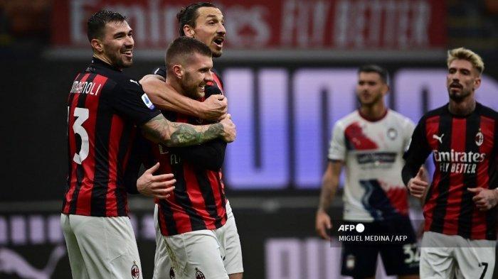 Hasil Liga Italia, AC Milan vs Crotone 4-0, Rossoneri Rebut Puncak Klasemen Serie A dari Inter