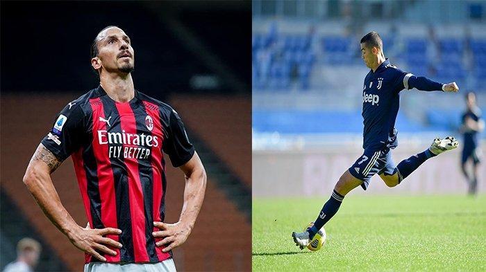 Jadwal Liga Italia AC Milan & Juventus, Menilik Perbedaan Ibrahimovic dengan Cristiano Ronaldo