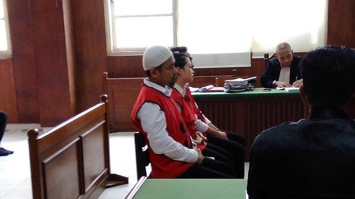 Zul Zivilia menjalani persidangan di Pengadilan Negeri Jakarta Utara, Senin (14/10/2019).