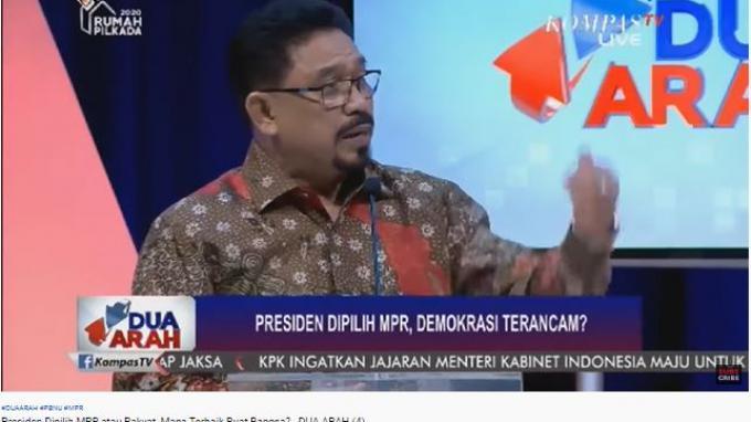 Ketua DPP Nasdem, Zulfan Lindan, dalam acara Dua Arah